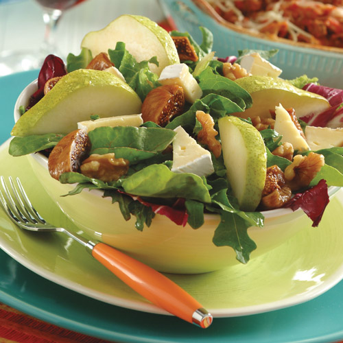 Autumn Salad with Pomegranate Vinaigrette