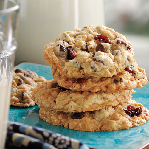 Chocolate Chip Oatmeal Dried Cherry Cookies