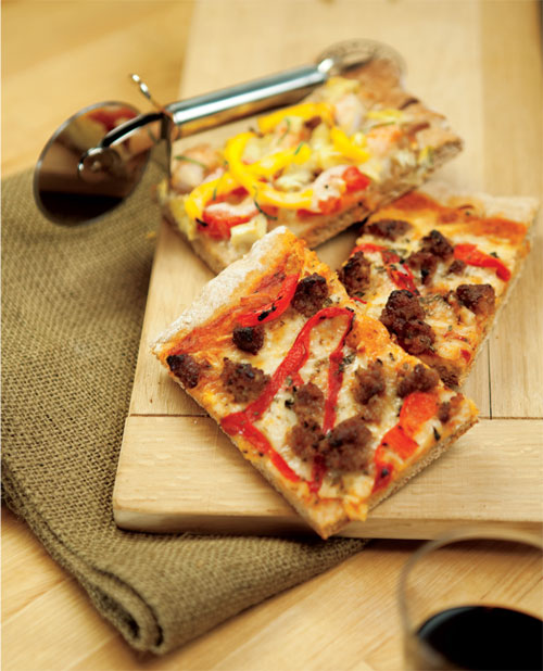 Grilled Italian Sausage, Roasted Pepper and Oregano Pizza