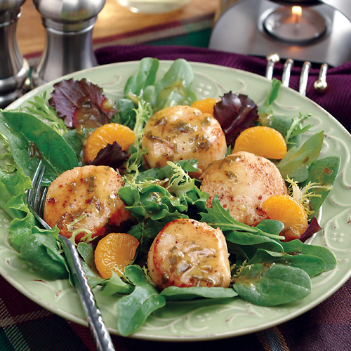 Seared Sea Scallop Salad
