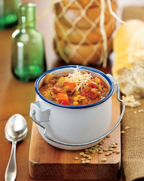 Turkey Sausage & Lentil Soup