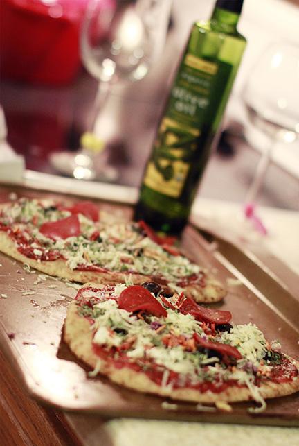 Spicy Mediterranean Pizzas