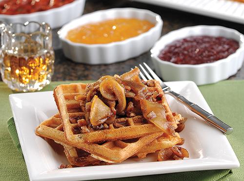 Parmesan-Black Pepper Waffles