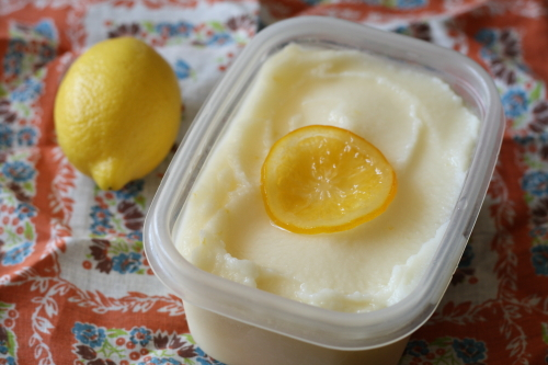 Meyer lemon ice