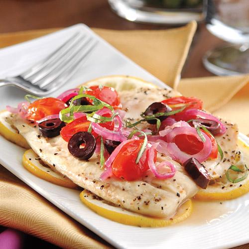 Foil-Baked Mediterranean Tilapia