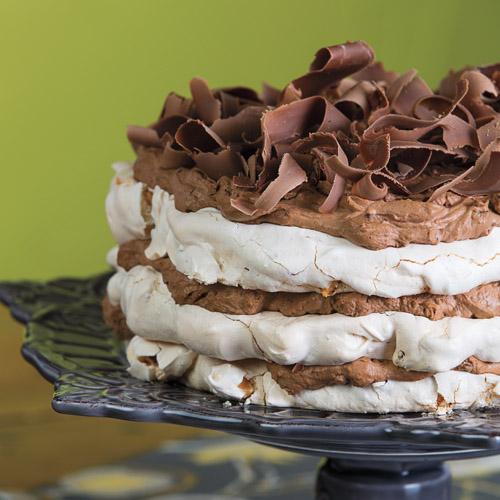 Mocha-Almond Meringue Cake