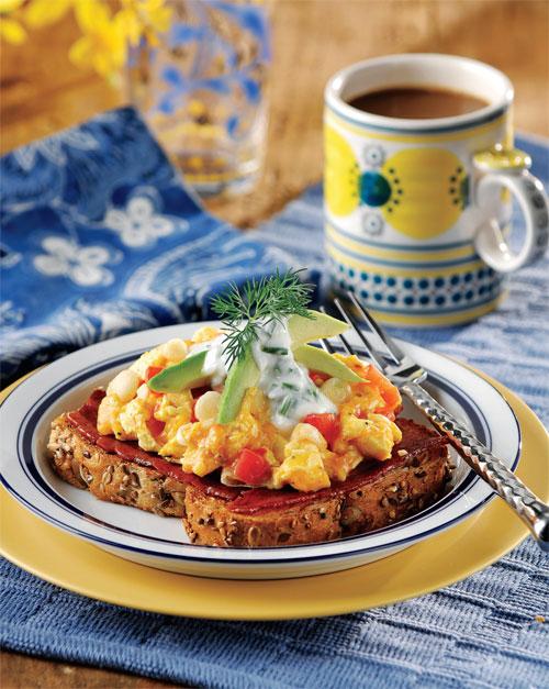 Open-Faced Breakfast Sandwiches