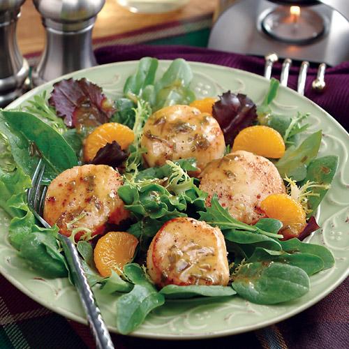 Seared Sea Scallop Salad