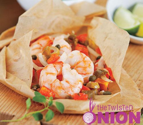 Veracruz Shrimp en Papillote Recipe